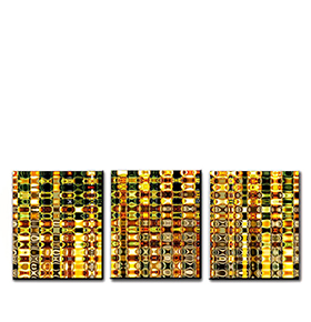 Quadro Tríptico de Lona Cubos Coloridos II | 105 X 45