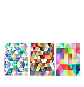 Quadro Tríptico de Lona Multicolor II | 105 X 45