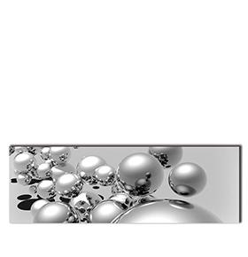 Quadro de Lona Bolas Cinza | 120 X 40