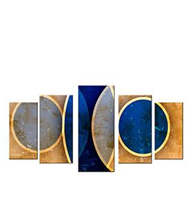 Quadro Políptico de Lona Círculos | 100 X 60