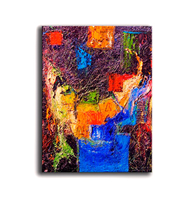 Quadro de Lona Tons Coloridos| 80 X 60