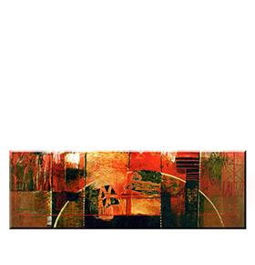 Quadro de Lona Meio Círculo | 120 X 40