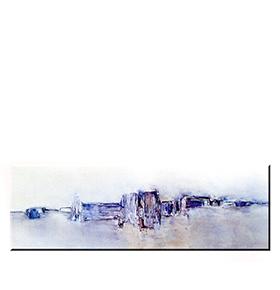 Quadro de Lona Tons de Lilás | 120 X 40
