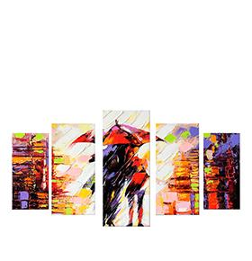 Quadro Políptico de Lona Casal c/ Guarda-Chuva | 100 X 60