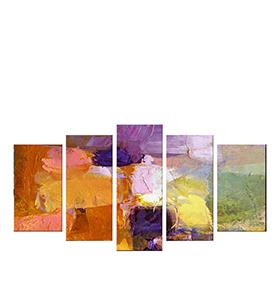 Quadro Políptico de Lona Multicolor II | 100 X 60