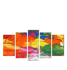 Quadro Políptico de Lona Multicolor III | 100 X 60