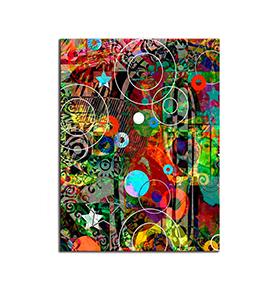 Quadro de Lona Figuras Coloridas | 80 X 60