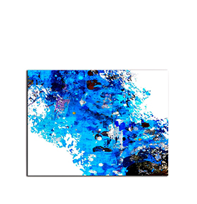 Quadro de Lona Azul e Branco | 80 X 60