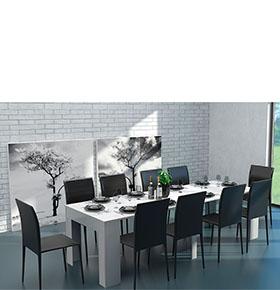 Mesa de Jantar Extensível | Branca