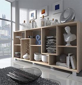 Estante Deluxe Horizontal Carvalho Claro | Design Moderno e Funcional