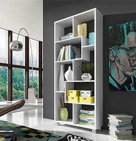 Estante Deluxe Vertical Branca | Design Moderno e Funcional