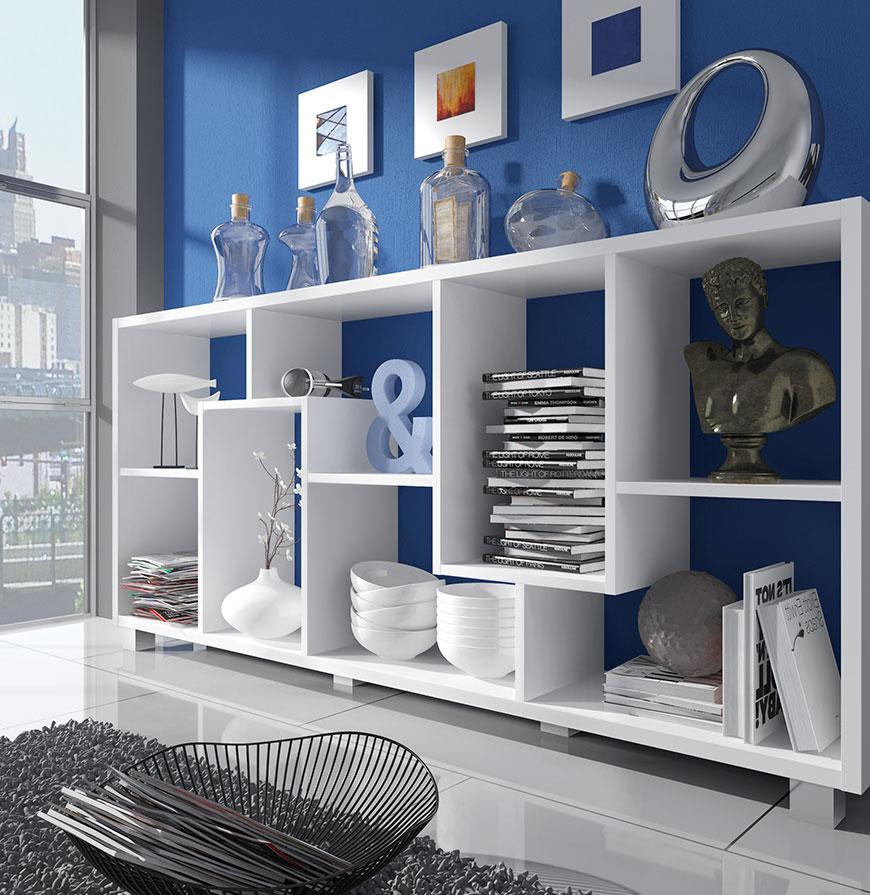 Estante Deluxe Horizontal Branca | Design Moderno e Funcional