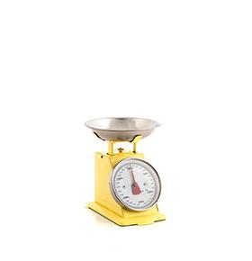 Balança de Cozinha Retro | Amarelo