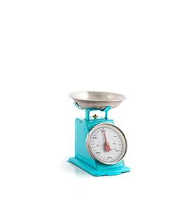 Balança de Cozinha Retro | Azul
