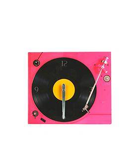 Relógio de Parade Giradiscos | Rosa