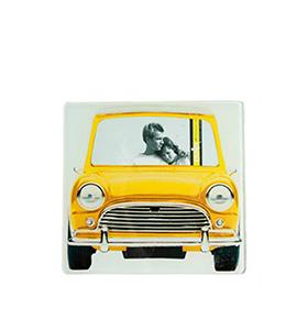 Moldura de Vidro Carro Vintage | Amarelo
