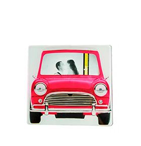Moldura de Vidro Carro Vintage | Rosa