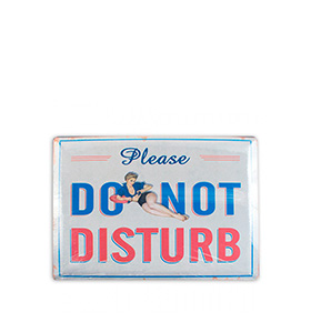 Placa de Metal Retro | Do Not Disturb