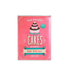 Placa de Metal Retro | Vintage Cakes