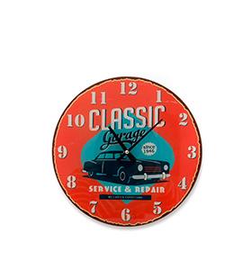 Relógio de Parede Classic Garage
