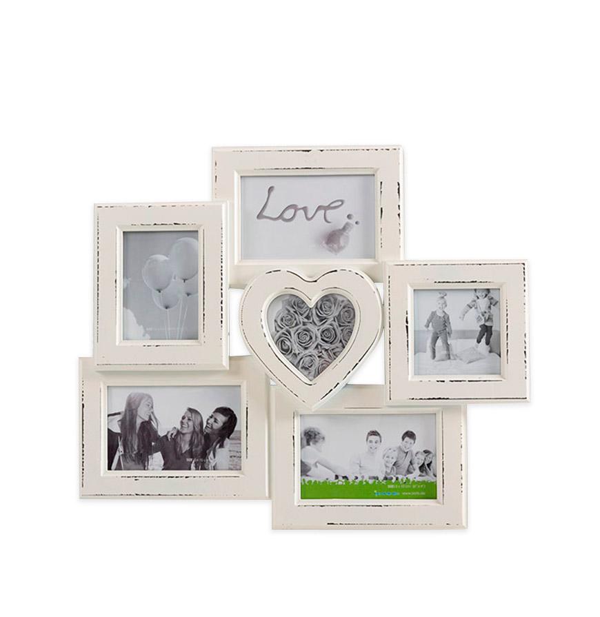 Moldura Vintage Love p/ 6 Fotos