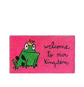 "Tapete de Entrada ""Welcome To Our Kingdom"""