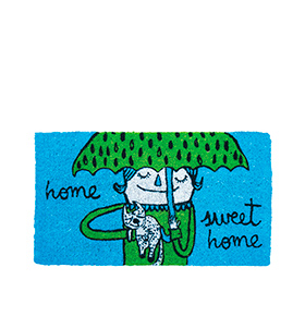 "Tapete de Entrada ""Home Sweet Home"" | Azul"