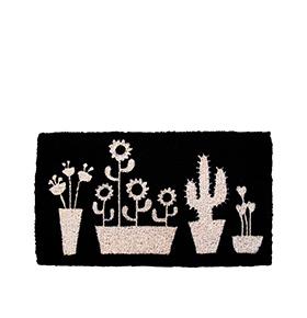Tapete de Entrada Cactus | Preto