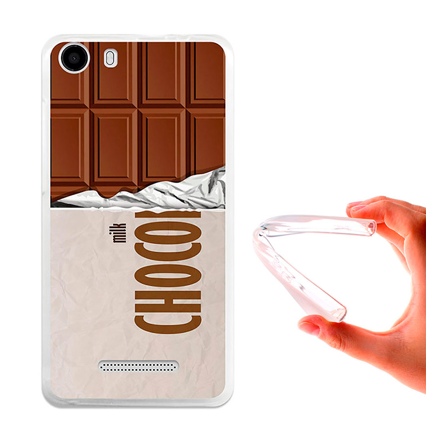 Capa de Gel BeCool® Wiko Lenny 2 | Tablete de Chocolate