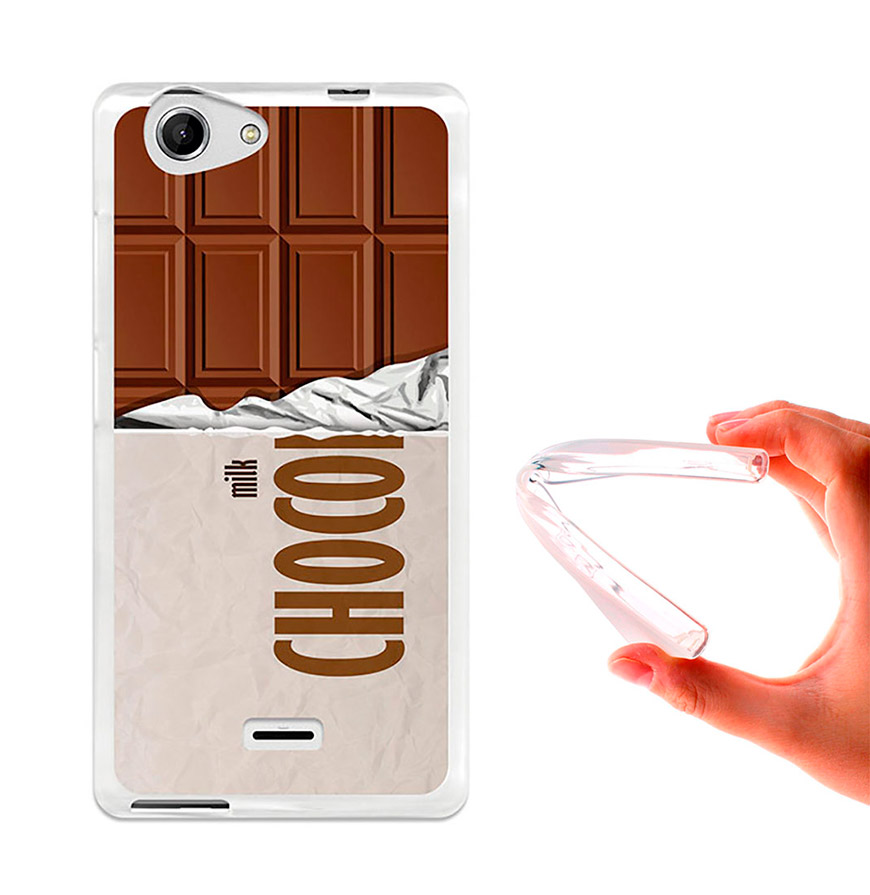 Capa de Gel BeCool® Wiko Pulp - Pulp 4G | Tablete de Chocolate