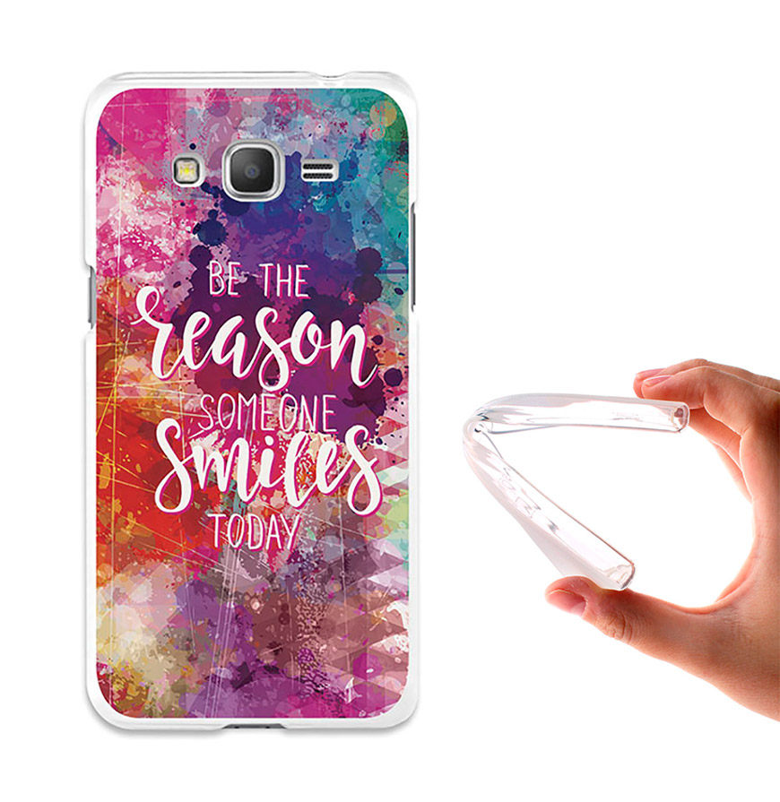 Capa de Gel BeCool® Samsung Galaxy Grand Prime | Motivos para Sorrir
