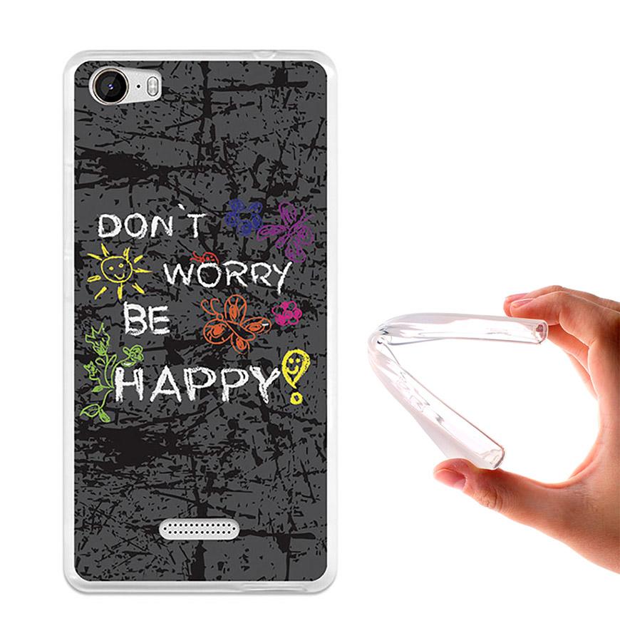 Capa de Gel BeCool® Wiko Fever | Dont Worry, Be Happy!