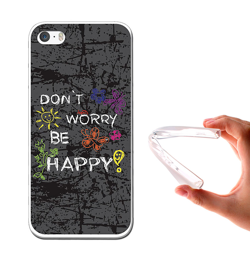 Capa de Gel BeCool® iPhone SE iPhone 5 5S | Dont Worry, Be Happy!