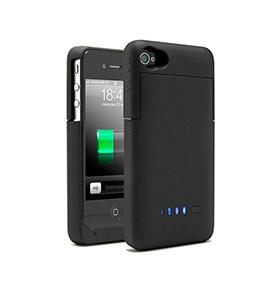 Capa Com Bateria Iphone 4/4S | Preto