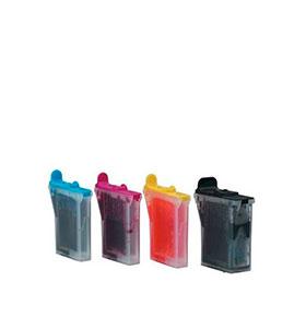 Pack 4 Tinteiros | Compatíveis com Brother LC600