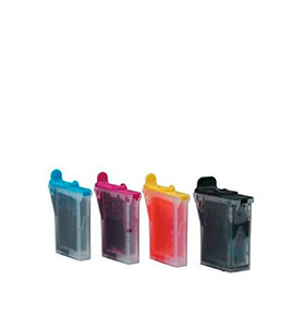 Pack de 4 Tinteiros | Compatíveis com Brother LC600