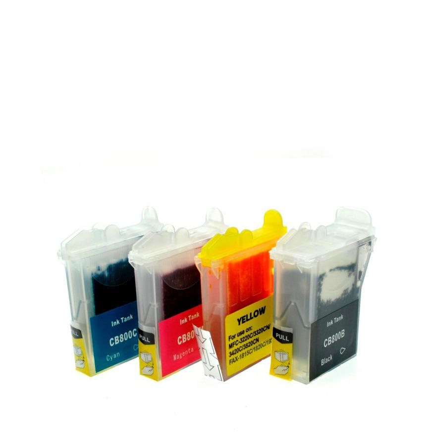 Pack 4 Tinteiros | Compatíveis com Brother LC800