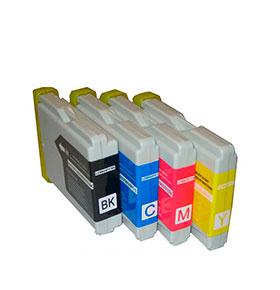 Pack de 4 Tinteiros | Compatíveis com Brother C970/1000