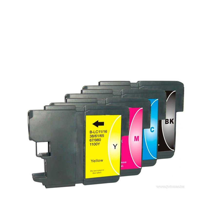 Pack 4 Tinteiros | Compatíveis com Brother LC 980/1100