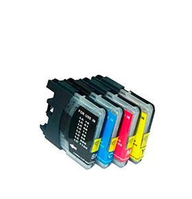 Pack de 4 Tinteiros | Compatíveis com Brother LC985