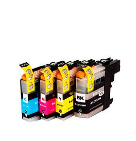 Pack de 4 Tinteiros | Compatíveis com Brother LC123XL
