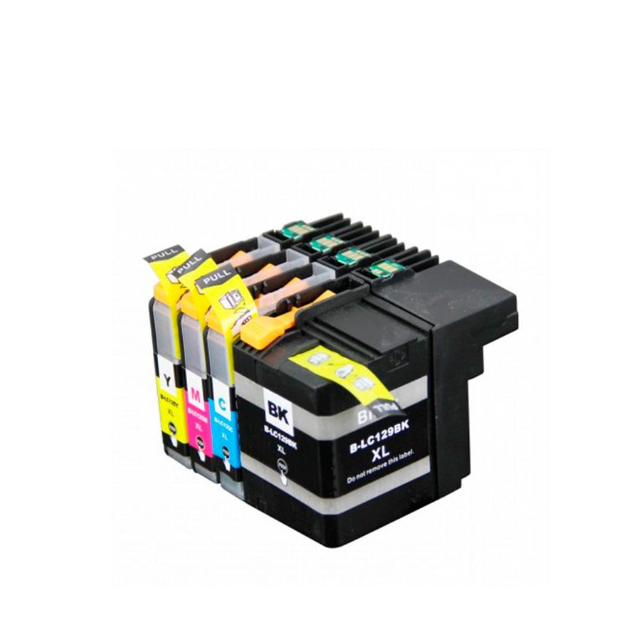Pack 4 Tinteiros | Brother  LC129XL BK+ 125XL Cores