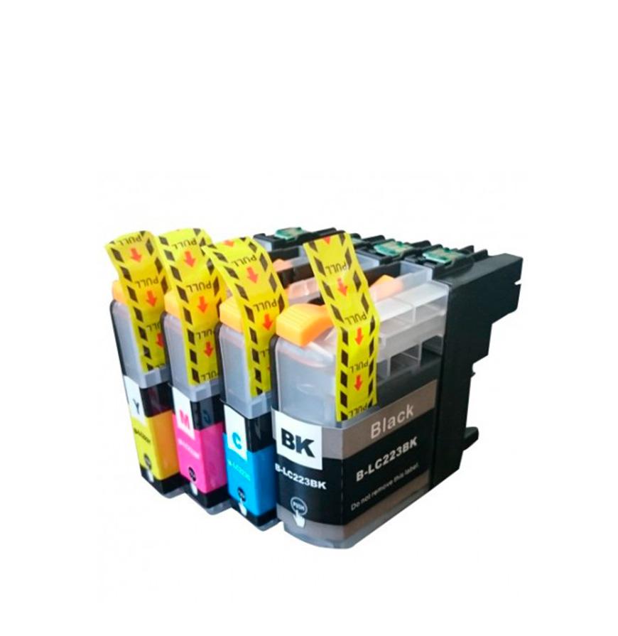 Pack de 4 Tinteiros | Compatíveis com Brother LC223XL
