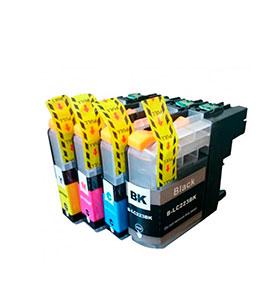 Pack de 4 Tinteiros | Compatíveis com Brother  LC227XL