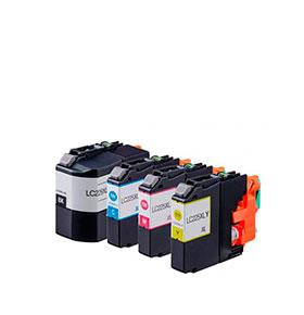 Pack 4 Tinteiros | Compatíveis com Brother LC229XL BK+ 225XL cores