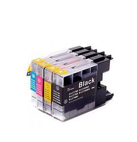 Pack de 4 Tinteiros | Compatíveis com Brother  LC1280