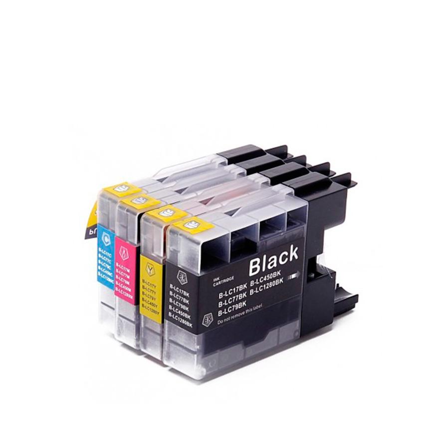 Pack 4 Tinteiros   Compatíveis com Brother  LC1280
