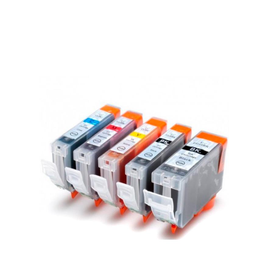 Pack de 5 Tinteiros   Compatíveis com Canon PGI5 + CLI8