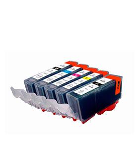 Pack 5 Tinteiros | Compatíveis com Canon CLI521 + PGI520