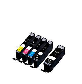 Pack de 5 Tinteiros | Compatíveis com Canon PGI550+CLI551